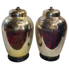 Pair of French Mercury Glass Table Lamps