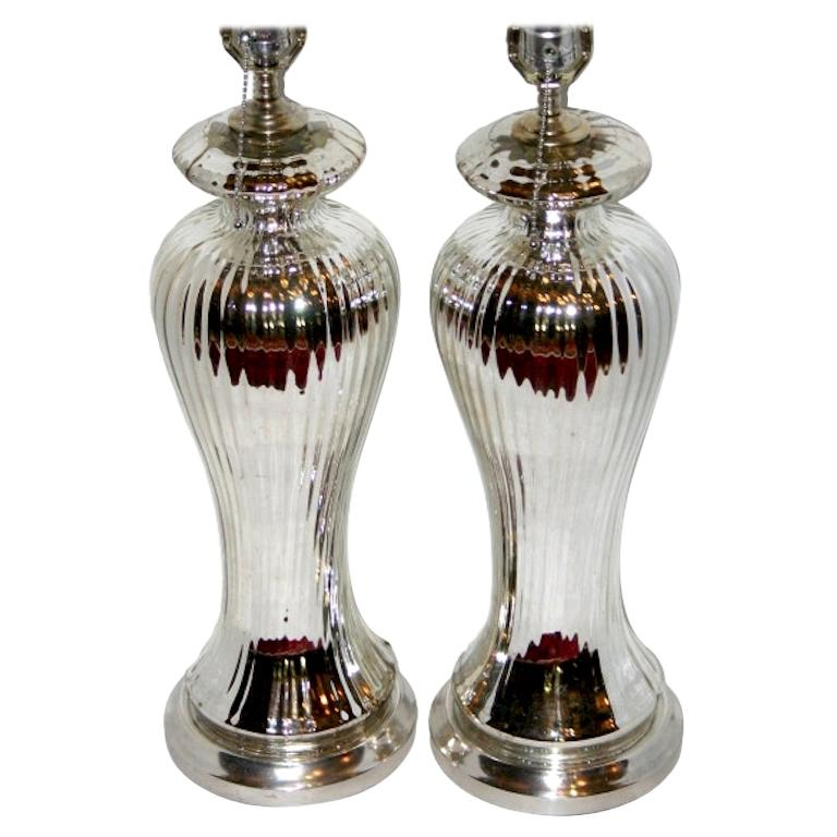 Pair of French Mercury Lamps