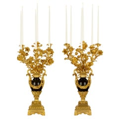 Pair of French Mid-19th Century Louis Philippe St. Candelabra