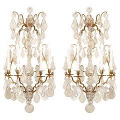 Pair of French Mid-19th Century Louis XV Style Four-Arm Sconces