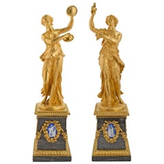 Pair of French Mid-19th Century Louis XVI Style Decorative Statues