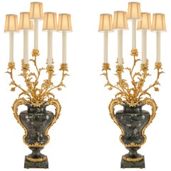 Pair of French Mid-19th Century Louis XVI Style Mounted Candelabras