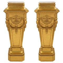 Pair of French Mid-19th Century Louis XVI Style Pedestal Columns