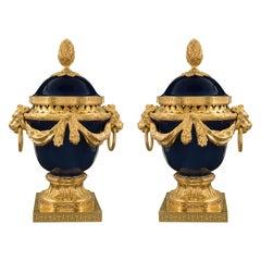 Pair of French Mid-19th Century Louis XVI Style Pot Pourri Urns
