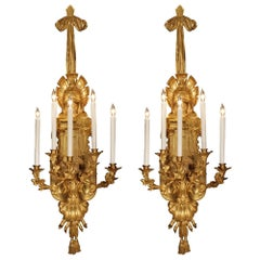 Pair of French Mid-19th Century Renaissance St. Ormolu Sconces