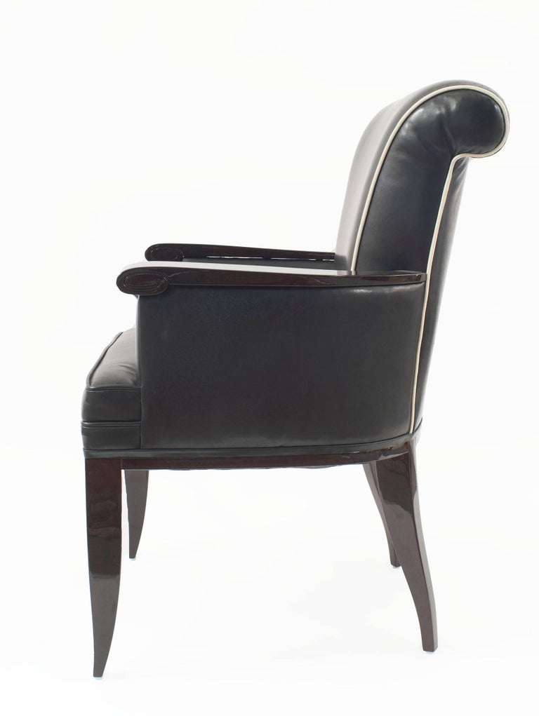 Mid-Century Modern Pair of French Mid-century Bergere Armchairs, by Jean Pascaud - 1stdibs New York For Sale