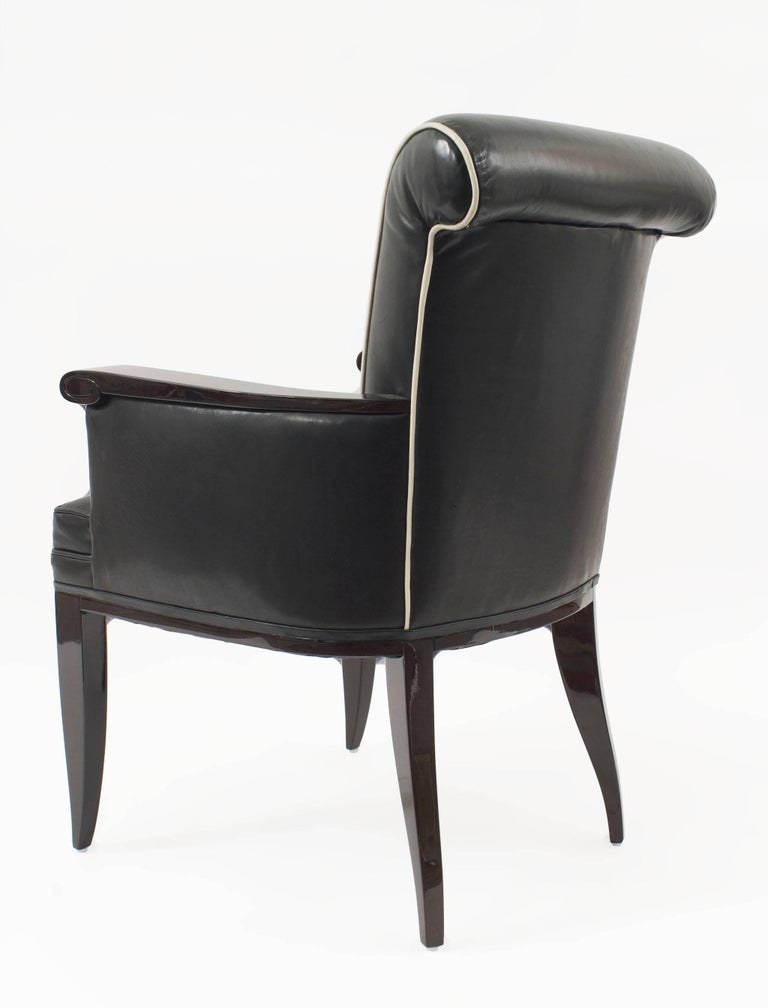 Pair of French Mid-century Bergere Armchairs, by Jean Pascaud - 1stdibs New York In Good Condition For Sale In New York, NY