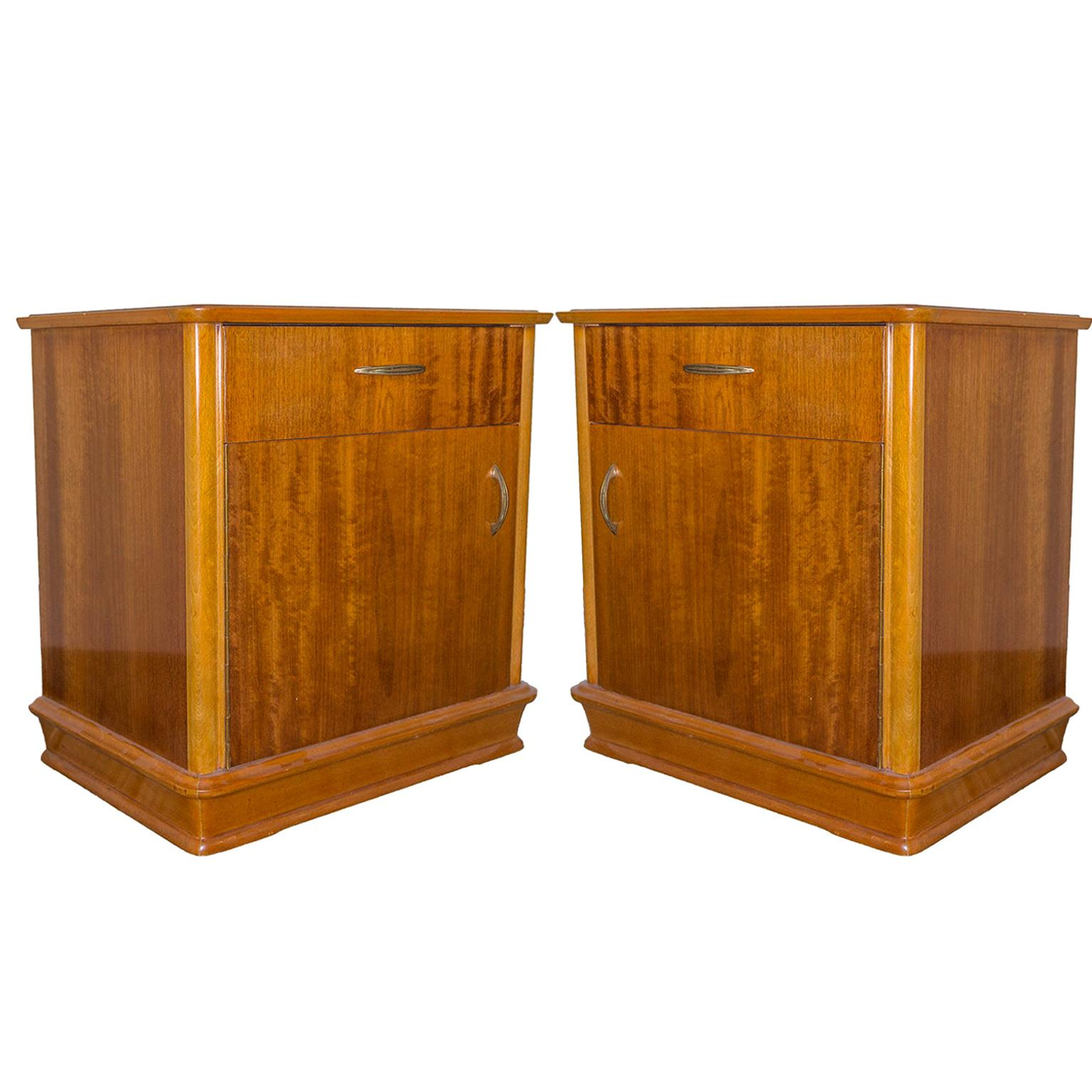 Pair of French Midcentury Nightstands