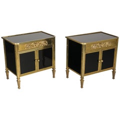 Pair of French Midcentury Rococo Nightstands