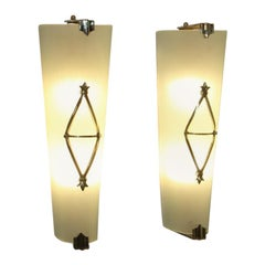 Pair of French Mid Century Sconces by Petitot
