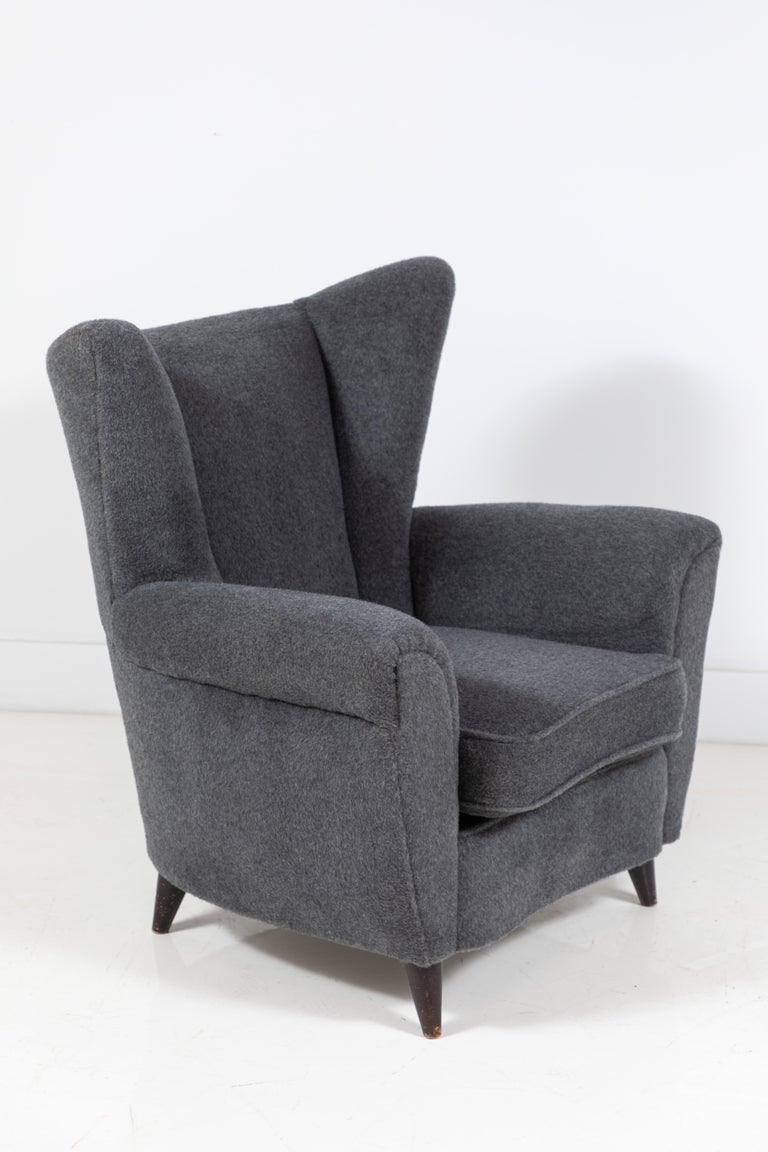 20th Century Pair of French Midcentury Wingback Chairs For Sale