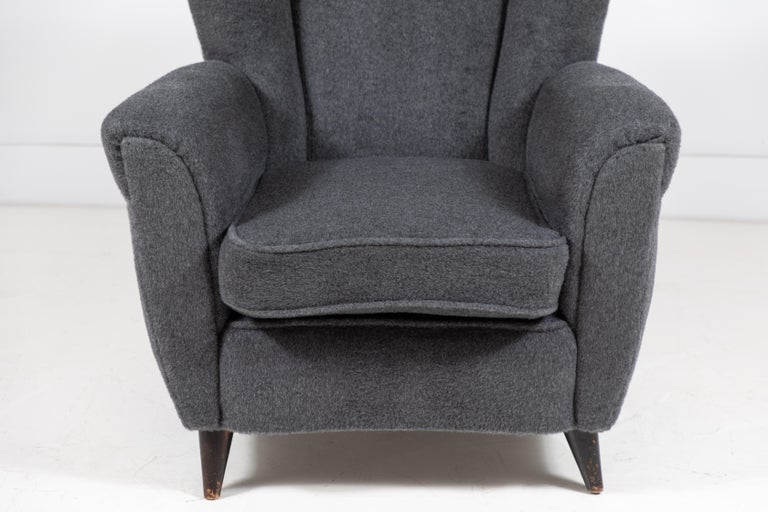 Pair of French Midcentury Wingback Chairs For Sale 3