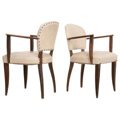 Pair of French Midcentury Bridge Chairs