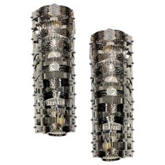 Pair of French Midcentury Nickel-Plated Sconces