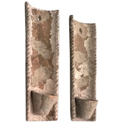 Pair of French Midcentury Rustic Terracotta Wall Sconces