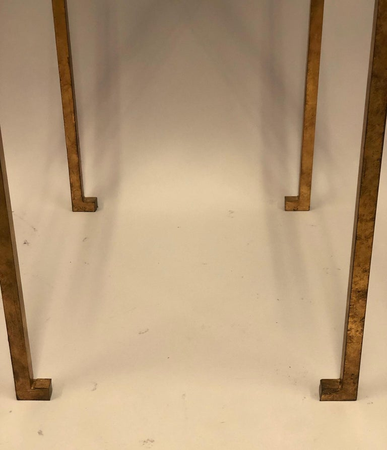 Pair of French Midcentury Style Gilt Iron Side Tables, Maison Ramsay For Sale 1