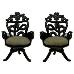 Pair of French Midcentury Surrealist Armchairs