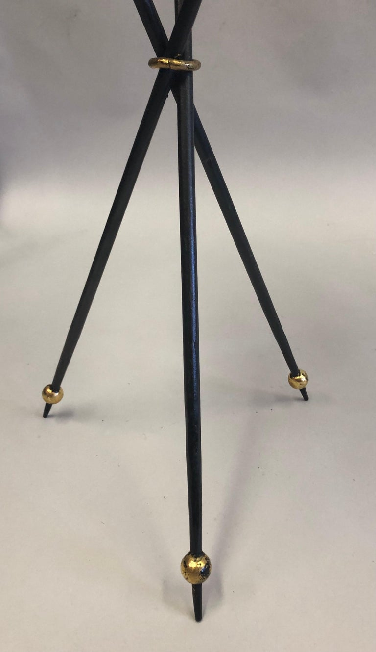 Pair of French Modern Neoclassical Wrought Iron Side Tables For Sale 6