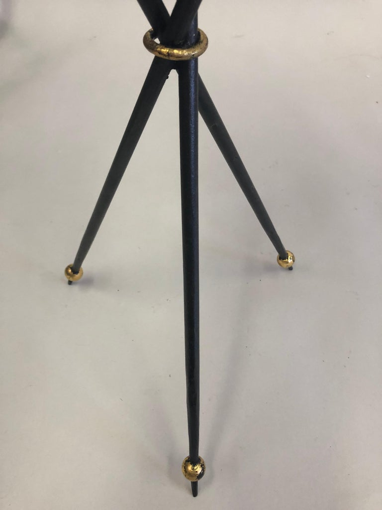 Pair of French Modern Neoclassical Wrought Iron Side Tables For Sale 10