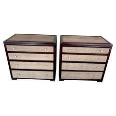 Pair of French Modern Shagreen Chests in the Style of R & Y Augousti