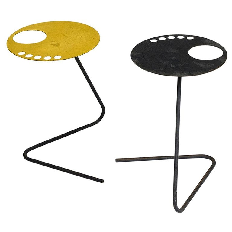 Pair of French Modern Side Tables, 1950s