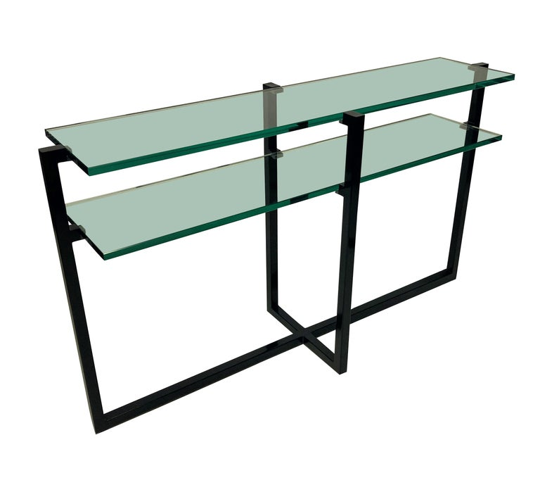 Mid-Century Modern Pair of French Modernist Console Tables