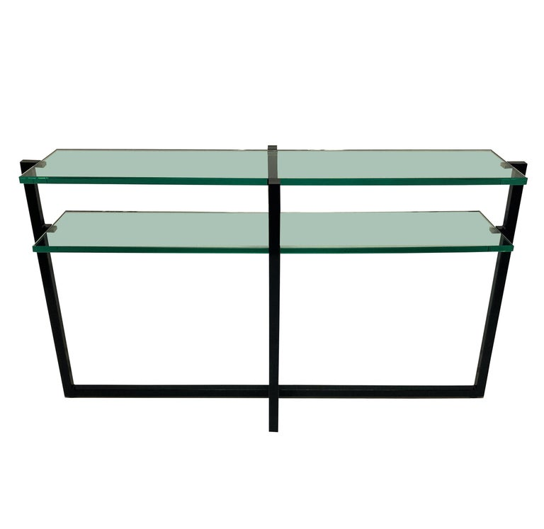 Mid-20th Century Pair of French Modernist Console Tables