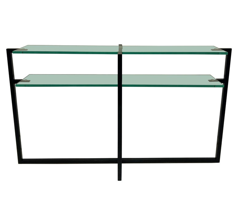 Pair of French Modernist Console Tables 1