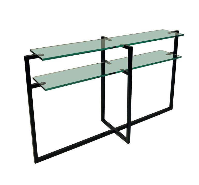Pair of French Modernist Console Tables 2