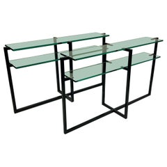Pair of French Modernist Console Tables