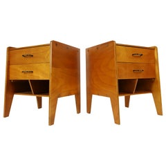 Pair of French Modernist Nightstands in the style of Hitier, Gascoin, 1950s