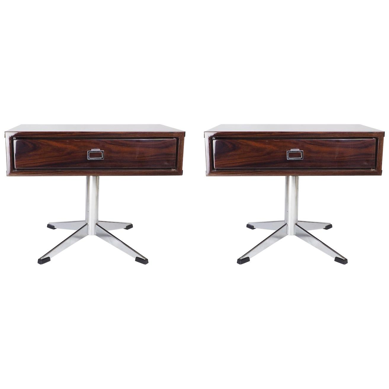 Pair of French Modernist Side Tables