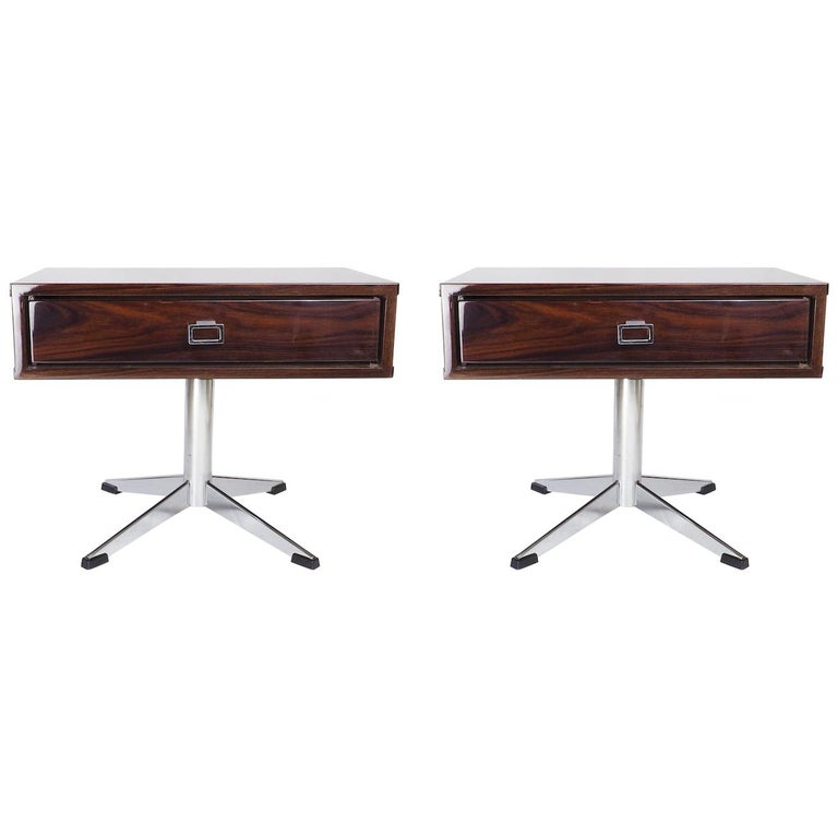 Pair of French Modernist Side Tables For Sale