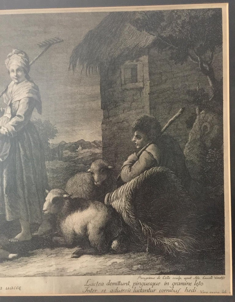 Pair of French Monochromatic Prints 'Etchings' For Sale 8