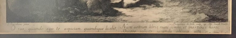 Pair of French Monochromatic Prints 'Etchings' For Sale 11