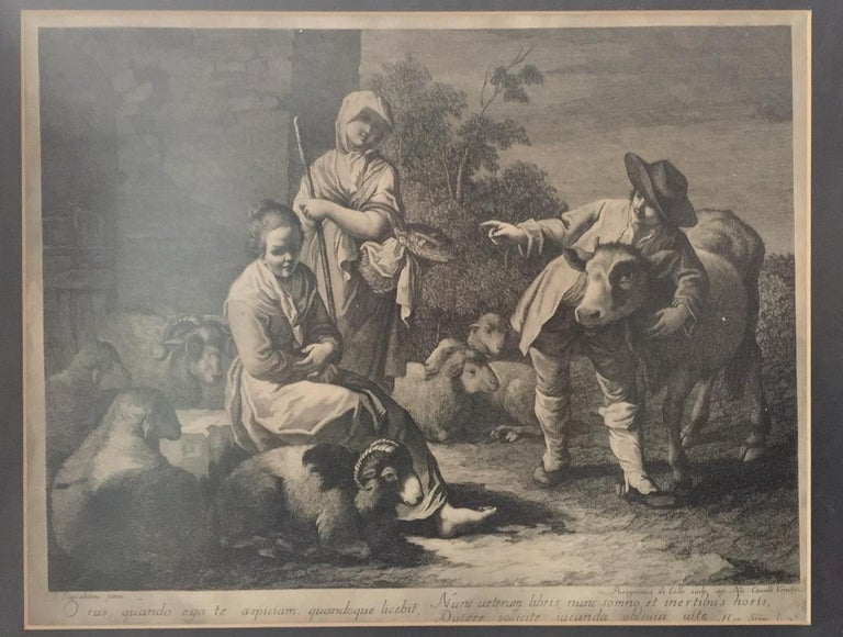 Pair of French Monochromatic Prints 'Etchings' In Good Condition For Sale In Montreal, Quebec