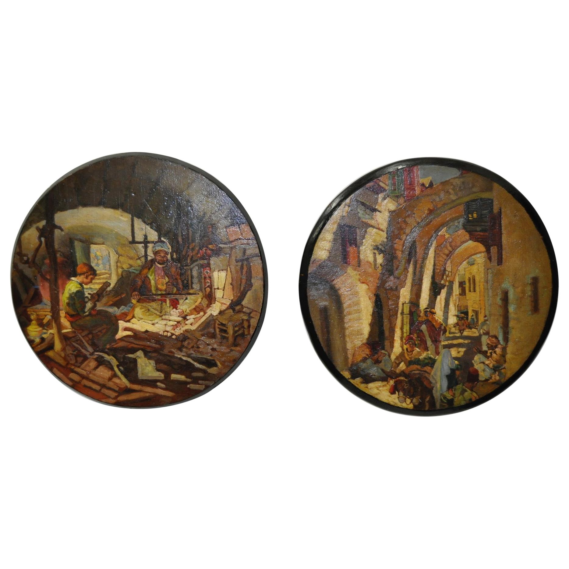 Pair of French Morocco Paintings, circa 1940