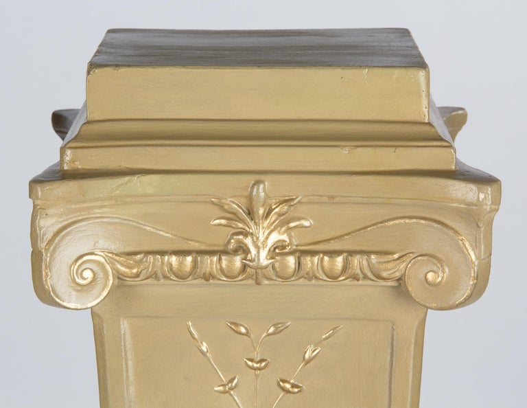 French Neoclassical Painted Plaster Pedestals, 1940s For Sale 14