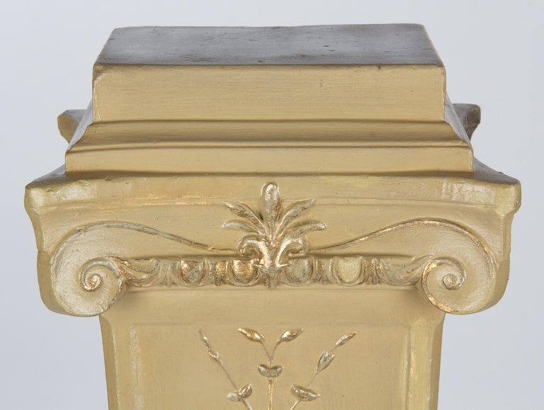 French Neoclassical Painted Plaster Pedestals, 1940s For Sale 15