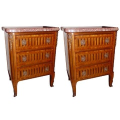 Pair of French Neoclassic Nightstands