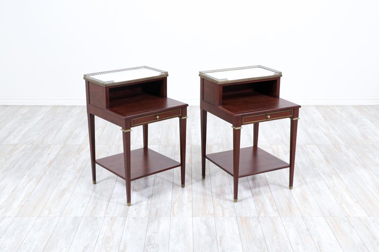 Pair of French Neoclassical Nightstands In Excellent Condition For Sale In Los Angeles, CA