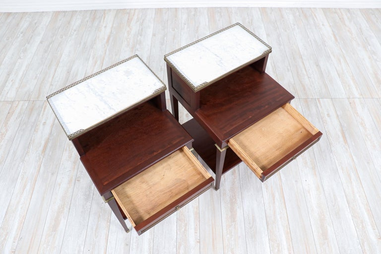 Pair of French Neoclassical Nightstands For Sale 1