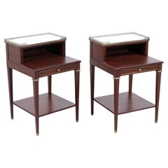 Pair of French Neoclassical Nightstands