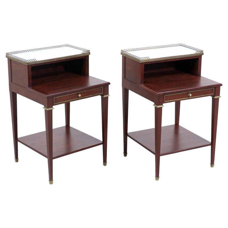 Pair of French Neoclassical Nightstands For Sale