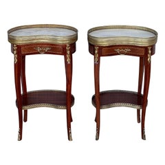 Pair of French Nightstands Side Cabinets Bedside Tables Louis XVI Style