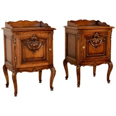 Pair of French Oak Bedsides, circa 1900