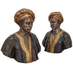 Pair of French Orientalist Busts