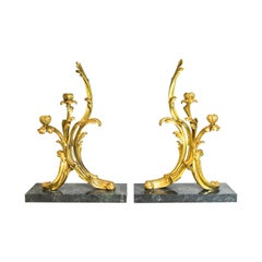 Pair of French Ormolu Candelabra