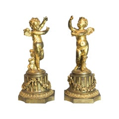 Pair of French Ormolu Cupids