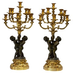 Pair of French Ormolu Eight-light Candelabras by Jean-François and Denière